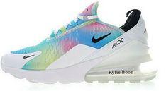 59992e70328 Più Recente Nike Air Max 270 Flyknit Bianca Rainbow AH6789 700 In Vendita