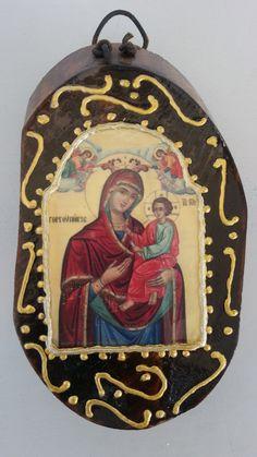 Παναγία Γοργοϋπήκοος - : Mother of Jesus by Icondimiourgia on Etsy Christmas Ornaments, Holiday Decor, Unique Jewelry, Handmade Gifts, Etsy, Vintage, Kid Craft Gifts, Christmas Jewelry, Craft Gifts
