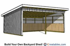 run in shed plans. run in shed plans. Lean To Shed Plans, Run In Shed, Free Shed Plans, Lean Too Shed, Horse Shed, Horse Stables, Horse Barns, Loafing Shed, Horse Shelter