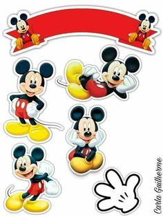 Topo mickey Mickey Mouse Birthday Cake, Fiesta Mickey Mouse, Theme Mickey, Minnie Mouse Pink, Mickey Party, Disney Mickey Mouse, Imprimibles Mickey Mouse, Bolo Mickey Baby, Mickey Mouse Cake Topper