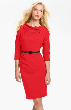 Suzi Chin for Maggy Boutique Belted Dolman Sleeve Sheath Dress | Nordstrom