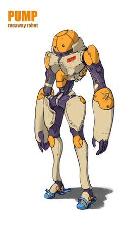 ArtStation - PUMP the runaway robot, Yutaka Toguchi