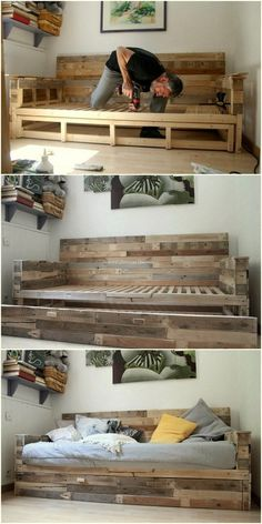 20 Brilliant DIY Pallet Furniture Design Ideas to Inspire You Wooden Pallet DIY Ideas for decor your home – Page 4 of 5 – Pallet Furniture Designs, Wooden Pallet Furniture, Pallet Designs, Diy Furniture, Bedroom Furniture, Wooden Pallets, Concrete Furniture, Furniture Plans, Rustic Furniture