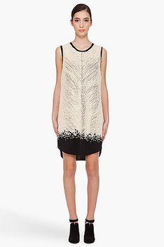 3.1 Phillip Lim Chevron Beaded Silk Shift Dress