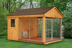 Dog kennel & shed. Put in a door from the kennel side & it could be your dog's outside home away from home--I have a dane & this would be a great place to put him when i have to contain him away from people--like when I'm selling eggs, chickens, etc. But they could still see how BIG & beautiful he is!