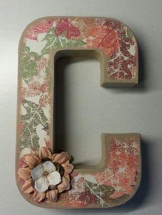 fallthanksgiving hobby lobby paper mache letter mod podge beige paint