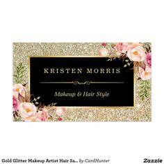 Business cards 450gsm luxury velvet touch finish client the dress gold glitter makeup artist hair salon floral wrap business card reheart Choice Image
