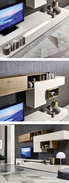 ikea wohnwand graue fronten schränke minimalistisch san giacomo - moderne schranke fur wohnzimmer