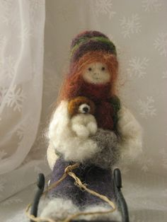 Needle felted doll, I really need to learn how to do this craft! the things you can make are so awesome!