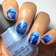 @stuckonlacquer 💙 her tutorial for the gradient is awesome ~ check it out!