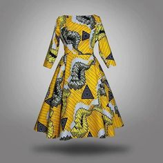 African Print midi dress african dress by CoCoCremeCouturier
