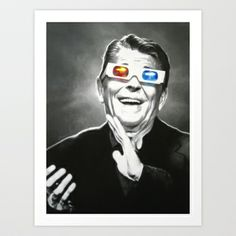 Reaganesque Art Print by Margary.net - $17.00