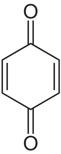 1,4-Benzoquinone, commonly known as para-quinone, is a chemical compound with the formula C6H4O2.