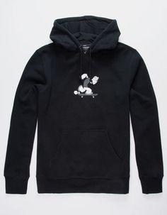 57d75033052 HUF x Popeye Skates Black Mens Hoodie - BLACK - 342725100. Толстовка С  Капюшоном
