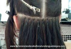 Extensiones de cabello natural, aplicacion con microchip...