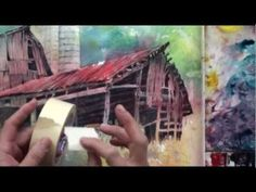 Playing now on http://ArtistsNetwork.tv, in this video, follow Lian Quan Zhen's watercolor lessons to paint a charming landscape with a colorful old barn as the subject. Learn Lian's unique watercolor techniques for spraying, blowing and splattering paint for vivid color and excitement.