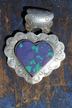 Previously Owned Mexican Taxco Southwestern Styled Sterling Silver Heart Pendant | eBay