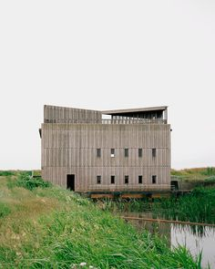 Johansen Skovsted Arkitekter converts three concrete and brick pump stations on Denmark& Skjern River into events spaces with elevated viewpoints Architecture Details, Interior Architecture, Interior Design, World Architecture Festival, Blue Drawings, Adaptive Reuse, Box Houses, Building Exterior, Exhibition Space