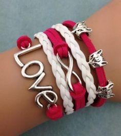 2d4af708445 Red Infinity Fox Love Bracelet