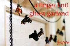 finger knit ghost banner