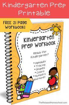 FREE Kindergarten Prep Workbook   AJ's in School   Homeschool ...
