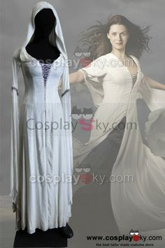 Kahlan Robe, made to order, $179, nineteen days to ship.  Ask about long train.