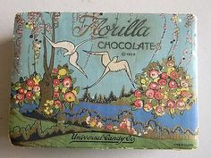 Vintage-Florilla-Chocolates-Candy-Box-Empty-Copyright-1928-Rare
