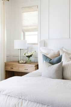 Master Bedroom Design, Bedroom Bed, Bedroom Inspo, Bedroom Decor, Coastal Master Bedroom, Master Suite, Bedroom Ideas, Bedrooms, Interior Design Inspiration