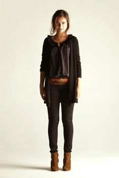like~i think what i like most is the way she has this belted and then long cardigan over.