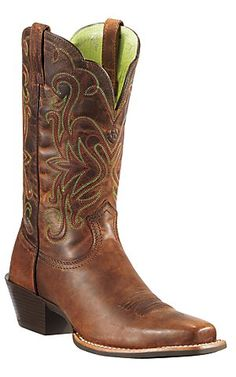 Ariat® Women's Sassy Brown Legend Punchy Square Toe Western Boot | Cavender's Boot City