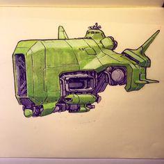 Greenship One - Jake Parker Cyberpunk, Spaceship Art, Spaceship Design, Concept Ships, Concept Art, Character Concept, Character Design, 3d Character, Starship Concept