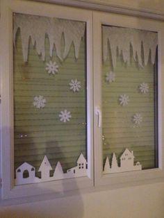 Décoration de vitres pour Noel