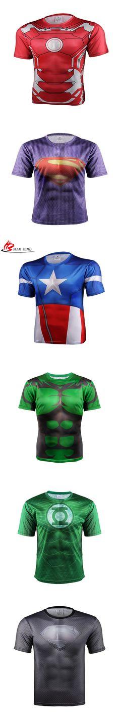 T shirt tee captain America shield civil war 3 d printing short sleeve T-shirt man Marvel avengers 3 male side fitness men S-4XL