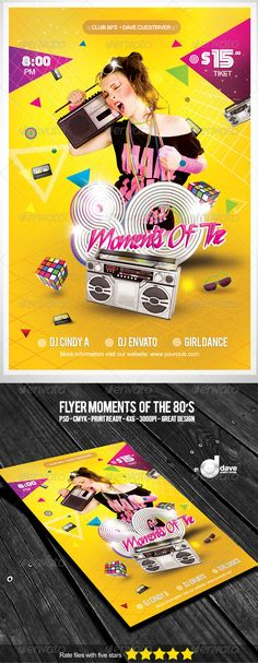 Flyer Moments Of The 80's - Clubs & Parties Events