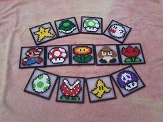 Mario themed coasters.
