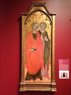 Saints Lucy and Agnes, c. 1434. Attributed to Francesco di Andrea Anguillar. Tempera on panel. (Birmingham Museum of Art, Birmingham, AL, USA)