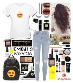 """Texter"" by girlygirlprincess ❤ liked on Polyvore featuring River Island, Converse, GFase, MAC Cosmetics, Avon, L.A. Girl, NYX, Bare Escentuals, Bobbi Brown Cosmetics and Charlotte Russe"