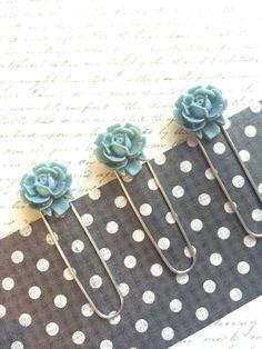 Blue Flower Bookmark  French Farmhouse Decor  by TheVelvetVine  COUPON CODE PIN10 #frenchdecor #thevelvetvine
