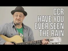 Have You Ever Seen The Rain - Creedence Clearwater Revival (Songs Guitar Lesson How to play Acoustic Guitar Notes, Acoustic Guitar Pictures, Fender Acoustic Guitar, Guitar Chords, Guitar Logo, Guitar Scales, Guitar Tattoo, Guitar Pedals, Bass Guitar Lessons