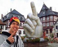 Sebastian Vettel's new statue in his home town!