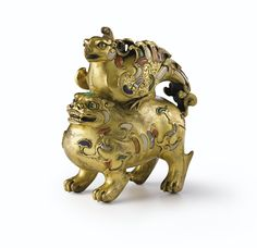 A RARE INLAID GILT-BRONZE 'YINGXIONG' INCENSE BURNER<br>QING DYNASTY, QIANLONG PERIOD | Lot | Sotheby's