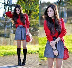School Red... (by Alba .) http://lookbook.nu/look/4245183-School-Red