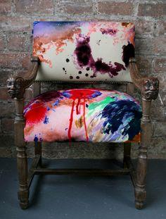 Graffiti Splodge Carved Chair - £850