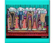 Diente Dental anatomía azulejo del arte por HeatherGallerArt