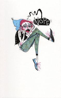 NOPE illustration by HeatherMahlerArt on Etsy, $80.00