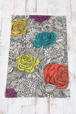Coloured Rose Floral Rug - Urban Outfitters