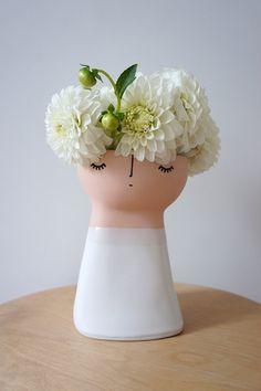 Original Miss Marshmellow – ceramic – stoneware – pottery – vase