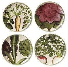 vegetable drawings plates