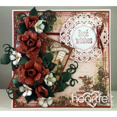 Heartfelt Creations - Red Rose Best Wishes Project
