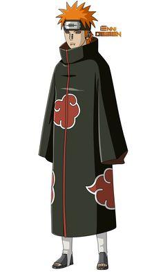 Naruto Shippuden Pain (Yahiko) by iEnniDesign